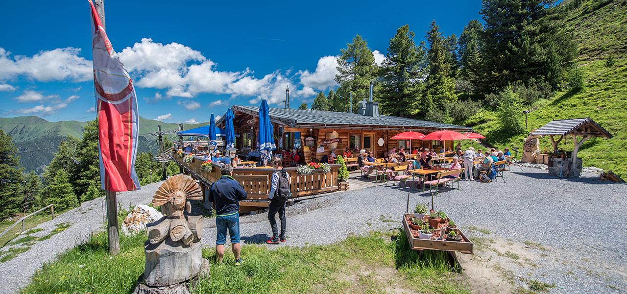 Graukogelhütte im Sommer